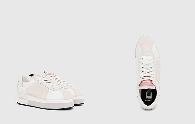S-PYAVE WEDGE, Blanco/Rosa - Sneakers