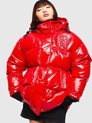 CL-W-ALLA-LITM, Rojo - Chaquetones de invierno