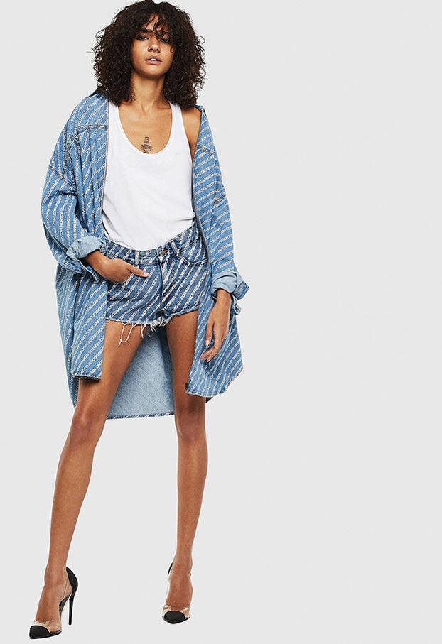DE-RIFTY, Azul medio - Shorts