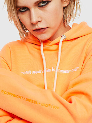 S-GIRK-HOOD-FLUO, Naranja - Sudaderas