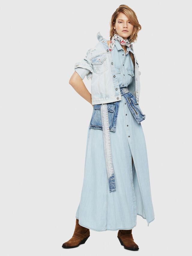 Diesel - DE-VELVET, Blue Jeans - Chaquetas de denim - Image 4