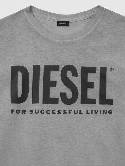 Diesel - T-DIEGO-LOGO, Gris oscuro - Camisetas - Image 3