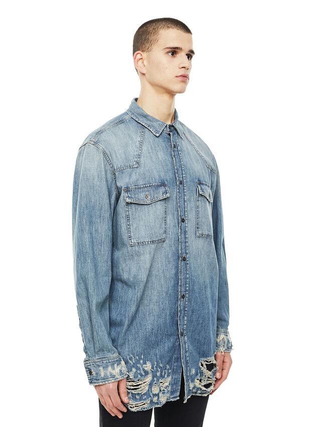 Diesel - SUVER-D, Blue Jeans - Camisas - Image 5