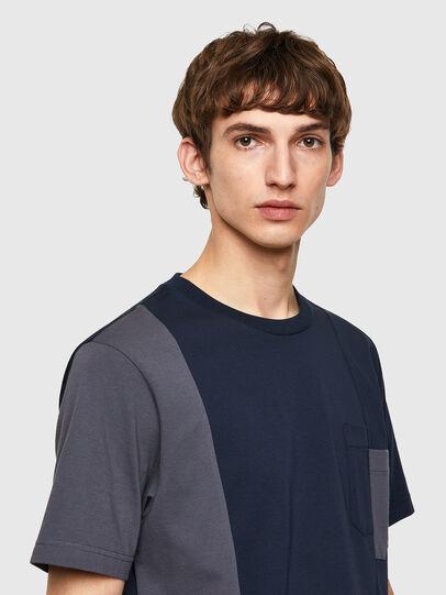 Diesel - T-RISEN-B1, Azul Oscuro - Camisetas - Image 3
