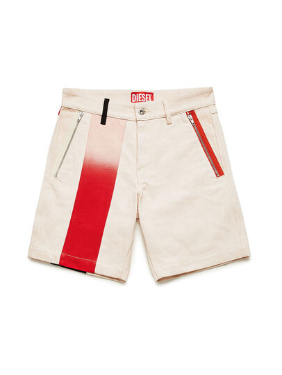 Diesel - GR02-P303-P, Blanco - Shorts - Image 1