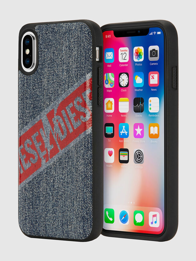 Diesel - VINTAGE DENIM IPHONE X CASE, Blue Jeans - Fundas - Image 1