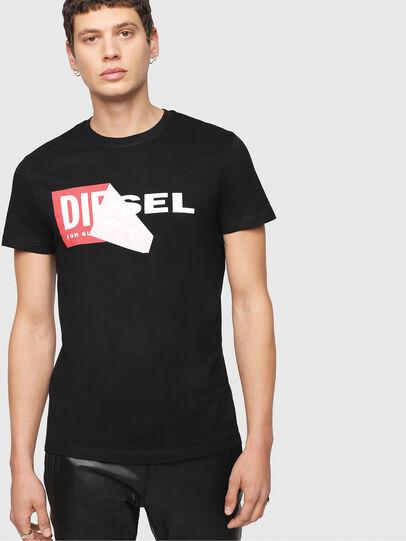 Diesel - T-DIEGO-QA, Negro - Camisetas - Image 1