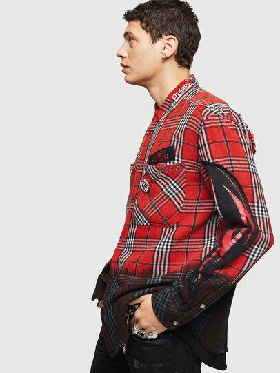Diesel - S-MIRAV, Rojo Claro - Camisas - Image 8