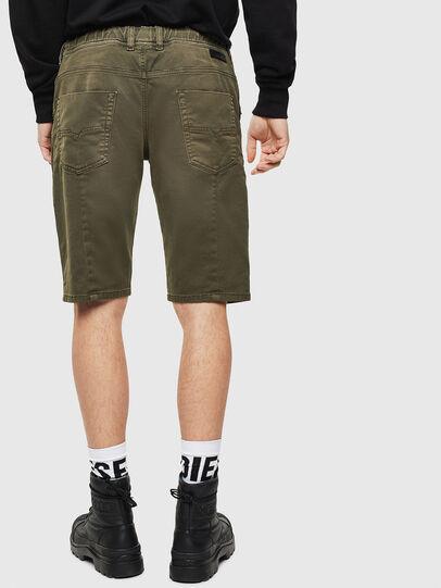 Diesel - D-KROOSHORT JOGGJEANS, Verde Oscuro - Shorts - Image 2
