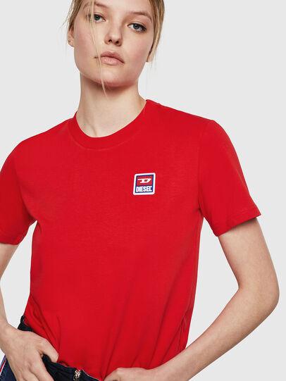 Diesel - T-SILY-ZE, Rojo Fuego - Camisetas - Image 3
