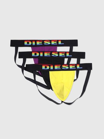 Diesel - UMBR-JOCKYTHREEPACK, Negro/Amarillo - Jockstraps - Image 1