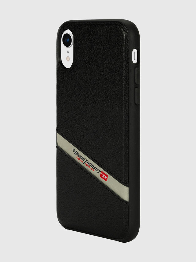 Diesel - DIESEL LEATHER CO-MOLD CASE FOR IPHONE XR, Negro - Fundas - Image 5