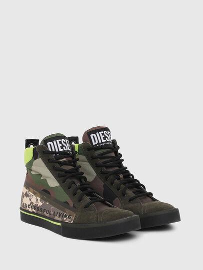 Diesel - S-DVELOWS MID, Verde Camuflaje - Sneakers - Image 2