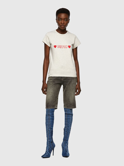 Diesel - T-SLICUP, Gris Claro - Camisetas - Image 4
