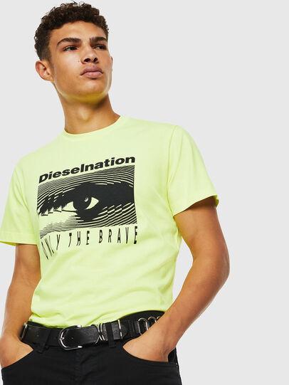 Diesel - T-DIEGO-J4, Amarillo Fluo - Camisetas - Image 7