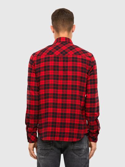 Diesel - S-EAST-LONG-CHK, Negro/Rojo - Camisas - Image 2