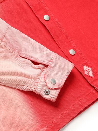 Diesel - GR02-B301, Rojo/Blanco - Camisas de Denim - Image 4