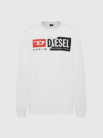 Diesel - T-DIEGO-LS-CUTY, Blanco - Camisetas - Image 1