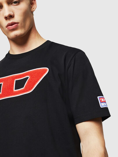 Diesel - T-JUST-DIVISION-D, Negro - Camisetas - Image 3