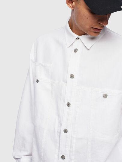Diesel - D-FLOX, Blanco - Camisas de Denim - Image 4