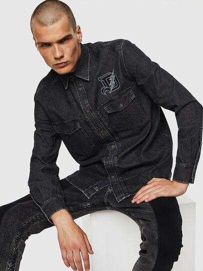 Diesel - D-BANDY-B, Negro - Camisas de Denim - Image 3