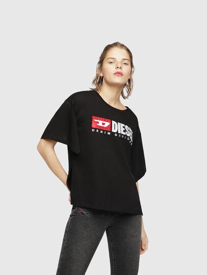 Diesel - T-JACKY-D, Negro - Camisetas - Image 1