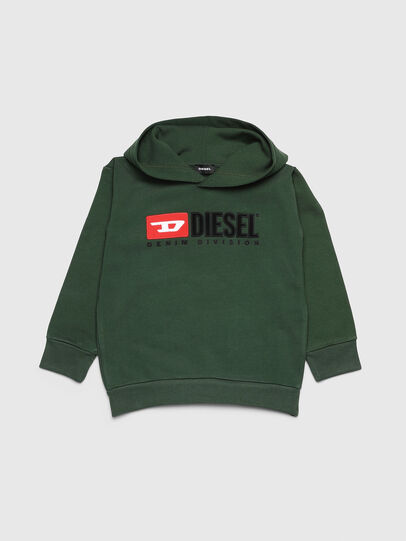 Diesel - SDIVISION OVER, Verde Oscuro - Sudaderas - Image 1