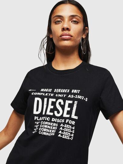 Diesel - T-SILY-ZF, Negro - Camisetas - Image 3