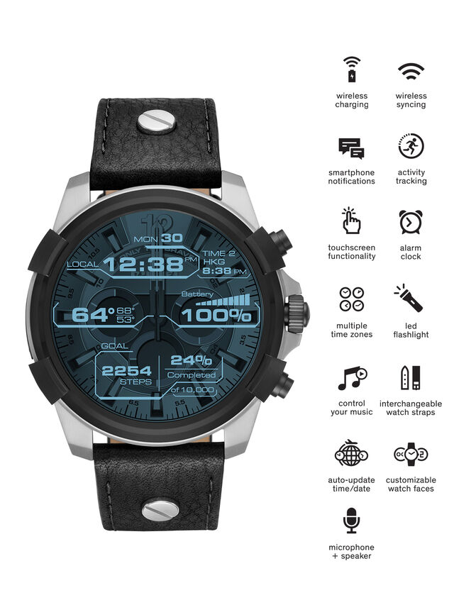 Diesel - DT2001, Negro - Smartwatches - Image 1