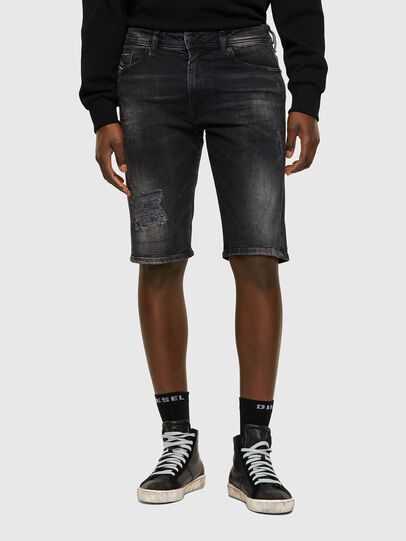 Diesel - THOSHORT, Negro/Gris oscuro - Shorts - Image 1
