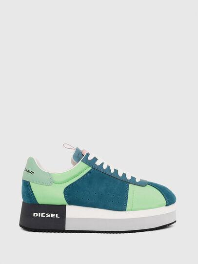 Diesel - S-PYAVE WEDGE, Verde/Azul - Sneakers - Image 1