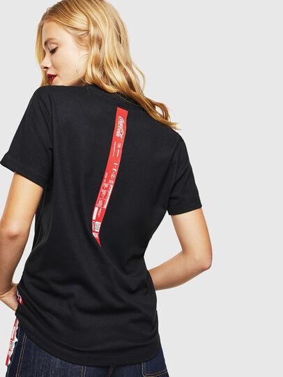 Diesel - CC-T-DIEGO-COLA, Negro - Camisetas - Image 4