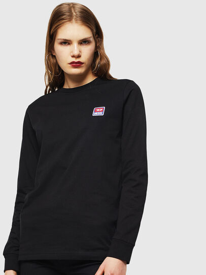Diesel - T-DIEGO-DIV-LS, Negro - Camisetas - Image 2