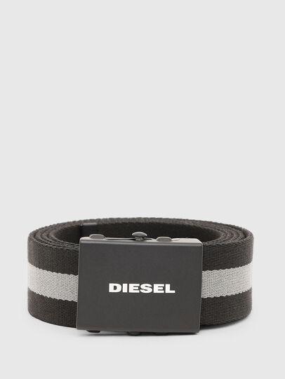 Diesel - B-PLATA, Negro/Gris - Cinturones - Image 1