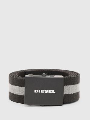 B-PLATA, Negro/Gris - Cinturones