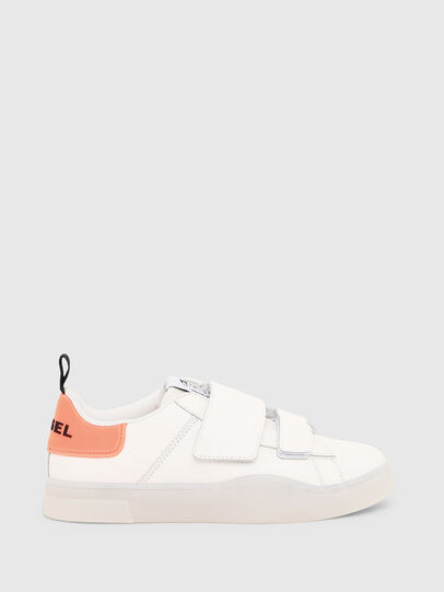 Diesel - S-CLEVER LOW STRAP W, Blanco/Rosa - Sneakers - Image 1
