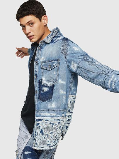 Diesel - D-HISAKY-SY, Blue Jeans - Camisas de Denim - Image 4
