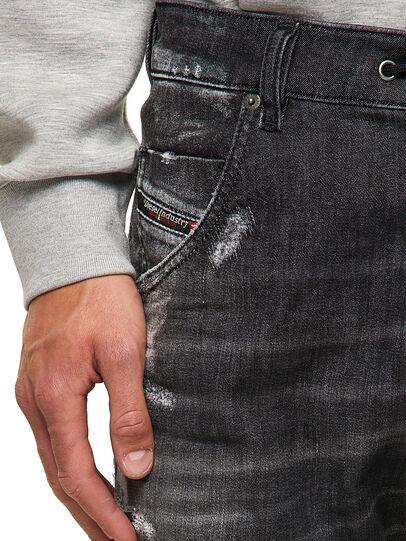 Diesel - Krooley JoggJeans® 09B53, Negro/Gris oscuro - Vaqueros - Image 3