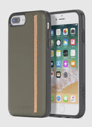 ZIP OLIVE LEATHER IPHONE 8 PLUS/7 PLUS/6s PLUS/6 PLUS CASE, Verde Oliva - Fundas