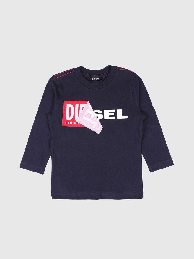 Diesel - TOQUEB-R, Azul Marino - Camisetas y Tops - Image 1