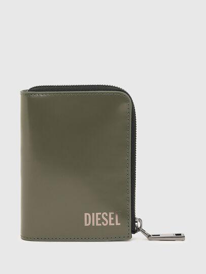 Diesel - L-12 ZIP, Verde Oliva - Carteras Con Cremallera - Image 1