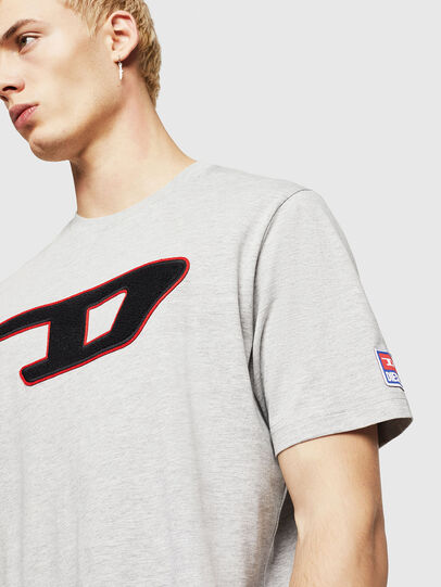 Diesel - T-JUST-DIVISION-D, Gris - Camisetas - Image 4