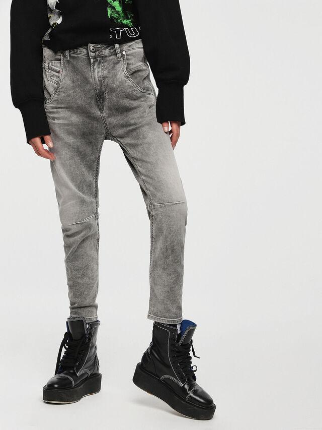 Diesel Fayza JoggJeans 0855B, Gris Claro - Vaqueros - Image 1