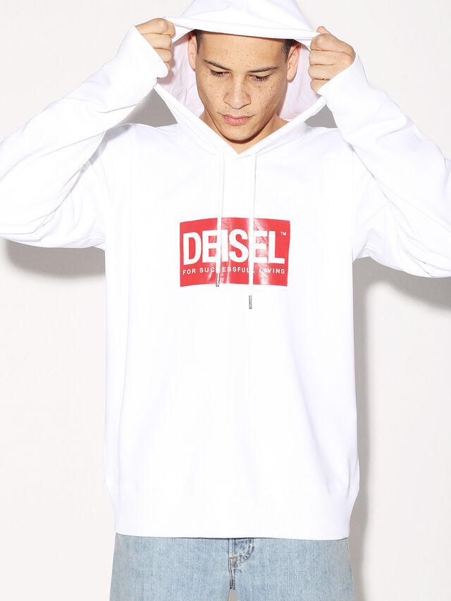 Diesel - DEIS-SHOOD, Blanco - Sudaderas - Image 2