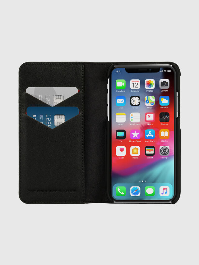 Diesel - DIESEL 2-IN-1 FOLIO CASE FOR IPHONE XS & IPHONE X, Negro/Blanco - Fundas tipo libro - Image 7