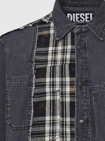 Diesel - D-FINLY, Gris oscuro - Camisas de Denim - Image 3