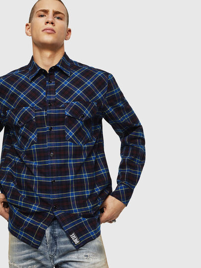 Diesel - S-TOLSTOJ, Azul - Camisas - Image 5