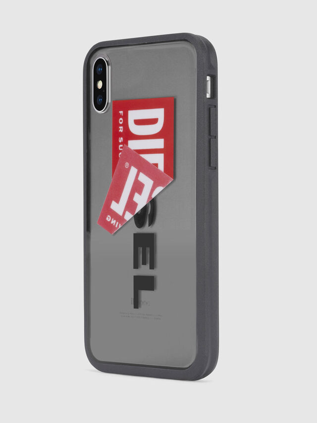 Diesel - STICKER IPHONE X CASE, Negro - Fundas - Image 3