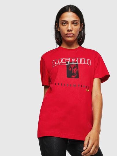 Diesel - LCP-T-DIEGO-LISBOA, Rojo - Camisetas - Image 2