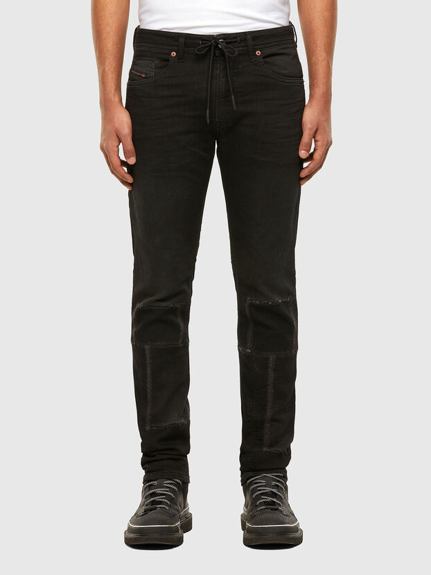 Thommer JoggJeans 009IC, Negro/Gris oscuro - Vaqueros